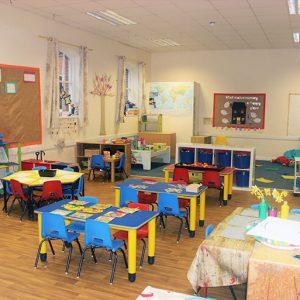 Activities set up in the Big Acorns room Andover