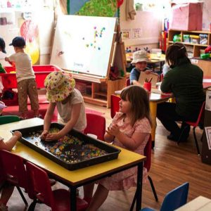 Children playing in the Big Acorns room Andover