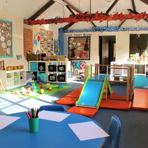Activities and inside slide ready to play with in Bluebells room Savernake