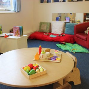 Activities set up and ready in Bluebells room Andover