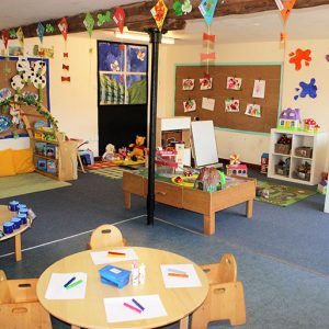 Toys and activities set up and ready to play with in Buttercups room Savernake
