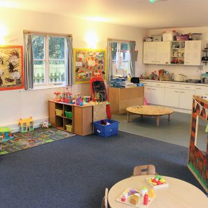 Toys ready and kitchen area in Buttercups room Andover