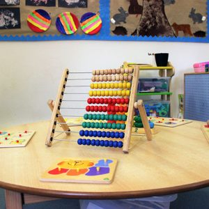 Toys and activities set up to play with in Little Acorns room Andover