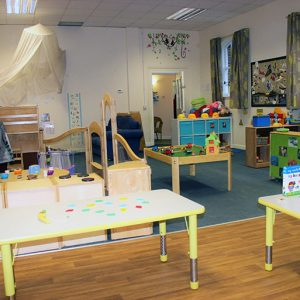 Toys and activities ready to play with in Little Acorns room Andover