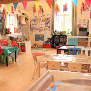 Toys and activities set up ready to play with in Marlborough nursery