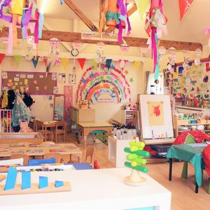 Toys and activities set up and ready to play with in Marlborough nursery