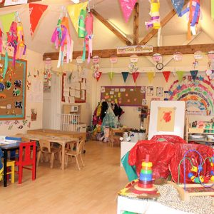 Room ready for children to come and play in Marlborough nursery
