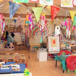 Room ready and set up with activities in Marlborough nursery