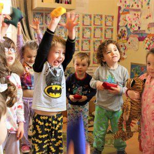 Children playing a game in Marlborough nursery
