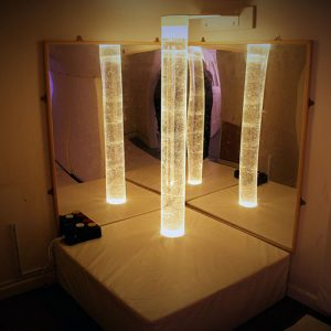 Bubble lighting tube in the sensory room Andover