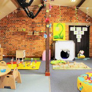 Activities and ball pool ready to play with in Snowdrops room Savernake
