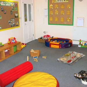 Toys and activities ready to play with in the Snowdrops room Andover