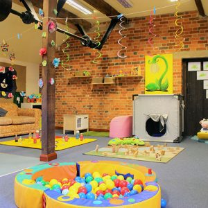 Room and activities ready to play with in Snowdrops room Savernake